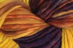 Valley,Sunflower,Hand,Dyed,Wool,Pencil,Roving,Bulky Yarn Hand Dyed Yellow Purple Brown