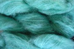 Tide,Aqua,Mohair,Yarn,Fingering,Weight,Hand Dyed Mohair Yarn Fingering Weight Aqua Blue eweandmeyarns.com