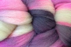 Me,Too,Hand,Painted,Wool,Roving,Wool Roving Hand Dyed Pink Black White