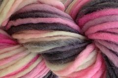 Me,Too,Hand,Dyed,Wool,Pencil,Roving,Bulky Yarn Hand Dyed Natural Gray Black Natural White and Pink Pencil Roving