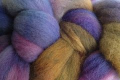 Violet,Park,Hand,Dyed,Wool,Roving,Wool Roving Hand Dyed Violet Purple Olive