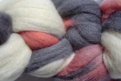 Little,Fish,Hand,Dyed,Wool,Roving,Wool Roving Hand Dyed Orange Gray Black