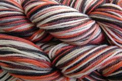 Little,Fish,Hand,Dyed,Merino,Wool,Worsted,Weight,Hand Dyed Merino Wool Yarn Worsted Weight Orange Black White