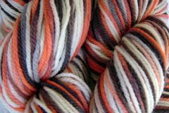 Little,Fish,Hand,Dyed,Merino,Wool,Yarn,DK,/,Sport,Weight,Hand Dyed Merino Wool Yarn DK / Sport Orange Gray Black White