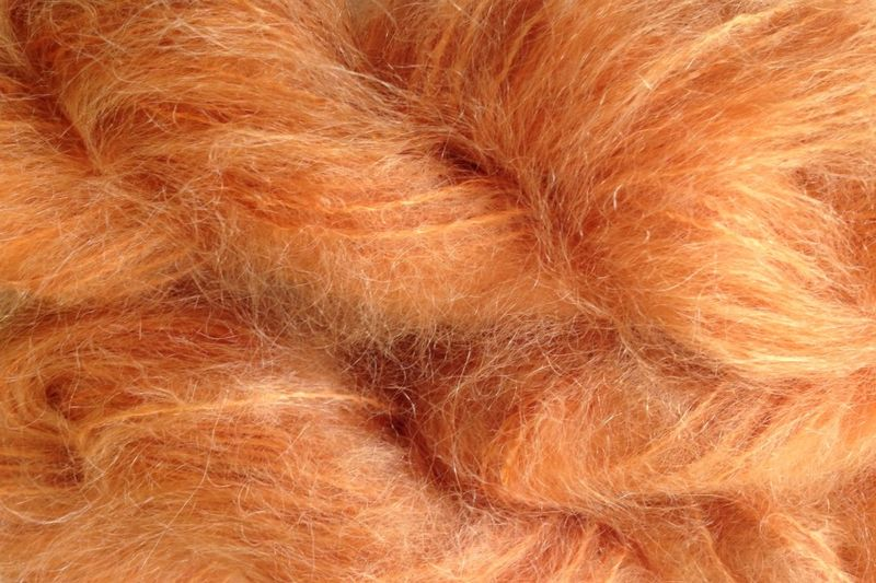 Little Orange Mohair Yarn Fingering Weight - product image