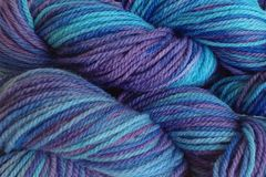 Twilight,Sky,Hand,Dyed,Merino,Wool,Worsted,Weight,Hand Dyed Merino Wool Yarn Worsted Weight Aqua Blue Purple