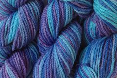 Twilight,Sky,Hand,Dyed,Merino,Wool,Yarn,DK,/,Sport,Weight,Hand Dyed Merino Wool Yarn DK / Sport Aqua Blue Purple