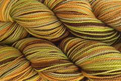 Fallen,Acorn,Hand,Dyed,Fingering,Weight,Merino Wool Hand Dyed Yarn, Yellow Gold Green Brown, Fingering Weight Yarn, Super Wash Yarn, eweandmeyarns.com