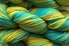 Lime,Ice,Hand,Dyed,Merino,Wool,Worsted,Weight,Hand Dyed Merino Wool Yarn Worsted Weight Aqua Blue Lime Green