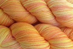 Spring,Melon,Hand,Dyed,Fingering,Weight,Merino Wool Hand Dyed Yarn, Orange Yellow Pink, Fingering Weight Yarn, Super Wash Sock Yarn. eweandmeyarns
