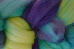 Mermaid,Cove,Hand,Dyed,Wool,Roving,Wool Roving Hand Dyed Aqua Blue Purple Green