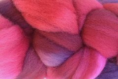 Hard,Candy,Hand,Dyed,Wool,Roving,Wool Roving Hand Dyed Purple Pink