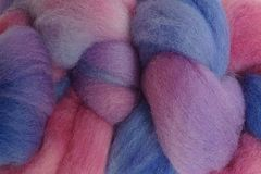 Winter,Wind,Hand,Dyed,Wool,Roving,Wool Roving Hand Dyed Pink Purple Blue