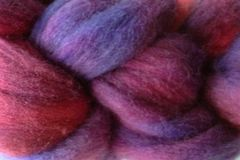 Pie,Season,Hand,Dyed,Wool,Roving,Wool Roving Hand Dyed Red Purple Blue eweandmeyarns Pie Season