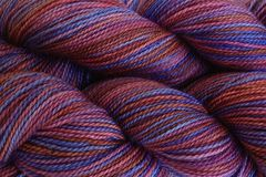 Pie,Season,Hand,Dyed,Fingering,Weight,Merino Wool Hand Dyed Yarn, Red Purple Blue, Fingering Weight, Super Wash Sock Yarn, eweandmeyarns
