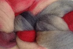 Paper,Love,Hand,Dyed,Wool,Roving,Wool Roving Hand Dyed Red Beige Gray Black eweandmeyarns Paper Love
