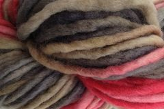 Paper,Love,Hand,Dyed,Wool,Pencil,Roving,Bulky Yarn Hand Dyed Red Gray Beige eweandmeyarns Paper Love