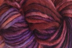 Pie,Season,Hand,Dyed,Wool,Pencil,Roving,Bulky Yarn Hand Dyed Red Purple Blue eweandmeyarns Pie Season