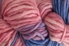 Winter,Wind,Hand,Dyed,Wool,Pencil,Roving,Bulky Yarn Hand Dyed Pencil Roving Pink Purple Blue