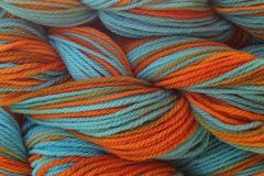 Hopi,Land,Hand,Dyed,Merino,Wool,Worsted,Weight,Hand Dyed Merino Wool Yarn Worsted Weight Turquoise Blue Orange eweandmeyarns