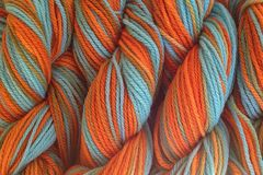 Hopi,Land,Hand,Dyed,Merino,Wool,Yarn,DK,/,Sport,Wt,Hand Dyed Merino Wool Yarn DK / Sport Turquoise Blue Orange eweandmeyarns