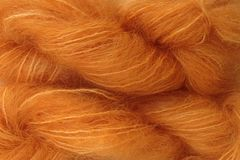 Land,Orange,Mohair,Yarn,Fingering,Weight,Hand Dyed Mohair Yarn Fingering Weight Doll Hair Orange eweandmeyarns.com