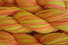 Squash,Blossom,Hand,Dyed,Merino,Wool,Worsted,Weight,Hand Dyed Merino Wool Yarn Worsted Weight Orange Yellow Green eweandmeyarns.com