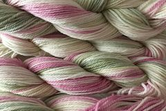 Shabby,Romance,Hand,Dyed,Merino,Wool,Worsted,Weight,Hand Dyed Merino Wool Yarn Worsted Weight Pink Green White eweandmeyarns.com