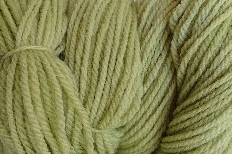 Shabby Green Hand Dyed Merino Wool Yarn Worsted Wt - product image