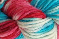 Circus,Tent,Hand,Dyed,Wool,Pencil,Roving,Bulky Wool Yarn Pencil Roving Hand Dyed Red Natural White Turquoise