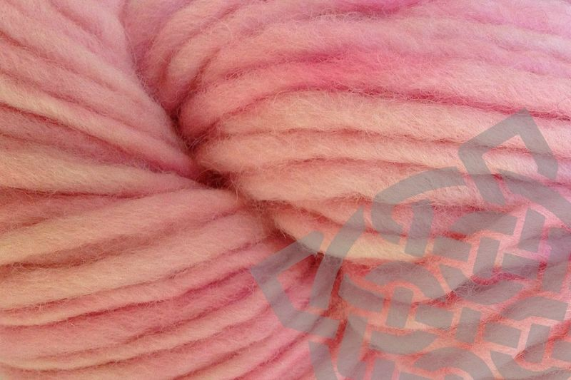 Sand Pink Hand Dyed Wool Pencil Roving - product images  of