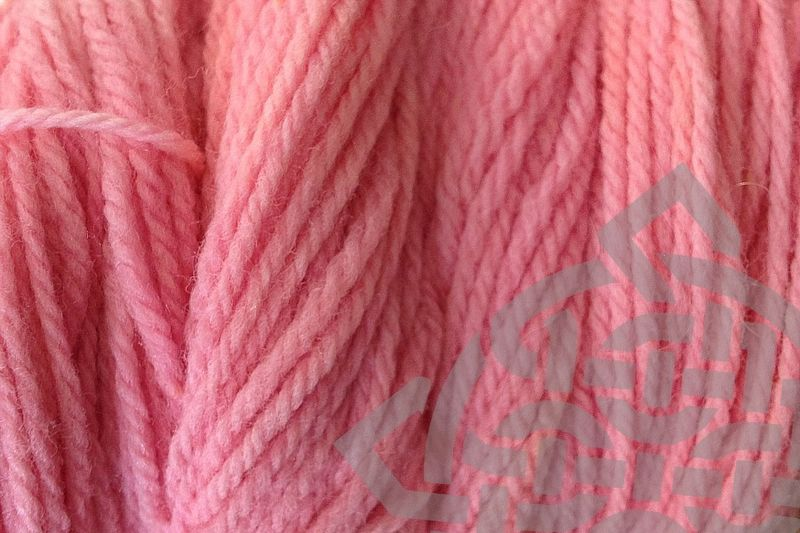 Sand Pink Hand Dyed Merino Wool Yarn Worsted Wt - product images  of
