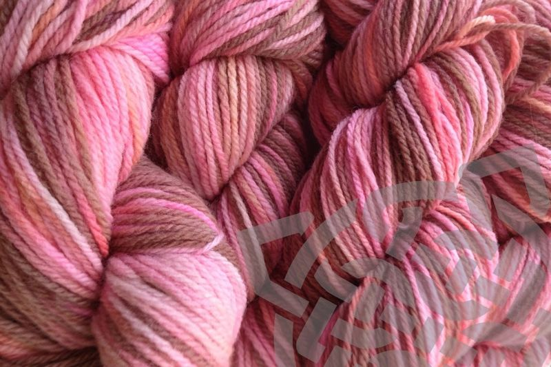 Pink Sand Hand Dyed Merino Wool Yarn DK / Sport Wt - product images  of