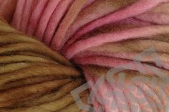 Pink,Sand,Hand,Dyed,Wool,Pencil,Roving,#5 Bulky Yarn, Wool Yarn, Chunky, Hand Dyed, Pink, Brown, Variegated Yarn, Quick Knit Yarn, Hilo, eweandmeyarns.com