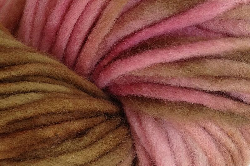 Pink Sand Hand Dyed Wool Pencil Roving - product images  of