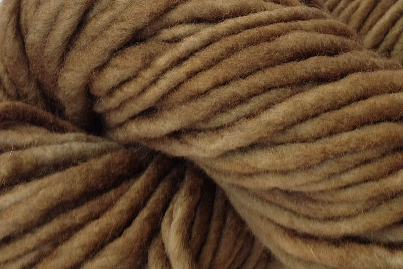 Root Brown Hand Dyed Wool #5 Bulky - product images  of