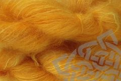 Mama,Orange,Mohair,Yarn,Fingering,Weight,Hand Dyed, Mohair Yarn, Fingering Weight, 1 ounce, 30 grams, Doll Hair, Marigold Mama, Mama Orange, Juice Orange, Yellow Orange, eweandmeyarns.
