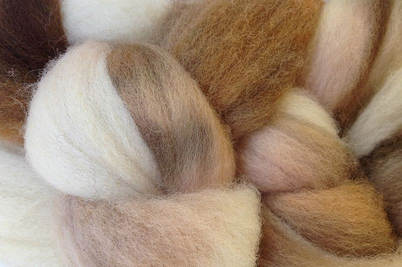 Rootbeer Float Hand Dyed Wool Roving - product images  of