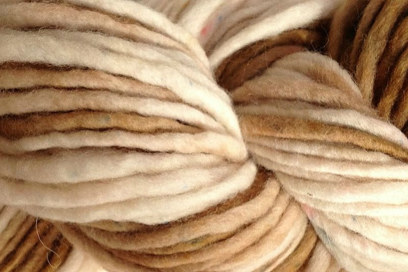Rootbeer Float Hand Dyed Wool Single Ply Bulky - product images  of