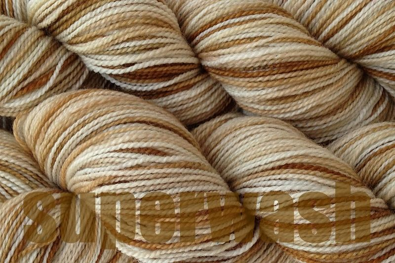 Rootbeer Float Hand Dyed Fingering Weight Super Wash - product images  of