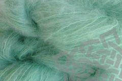 Glass,Green,4oz,(116g),Mohair,Yarn,Fingering,Weight,Mohair Yarn, Fingering Weight Yarn, Waldorf Doll Hair, Glass Green, Pastel Green, Mint Green, Beach Glass, 4 ounce, 116 grams, Large Skein Mohair, Hand Dyed, eweandmeyarns.com