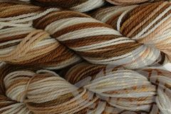 Rootbeer,Float,Hand,Dyed,Merino,Yarn,Worsted,Weight,Hand Dyed, Merino Wool Yarn, Worsted Weight, Brown, Natural White, Tan, Root Beer Float, eweandmeyarns.com