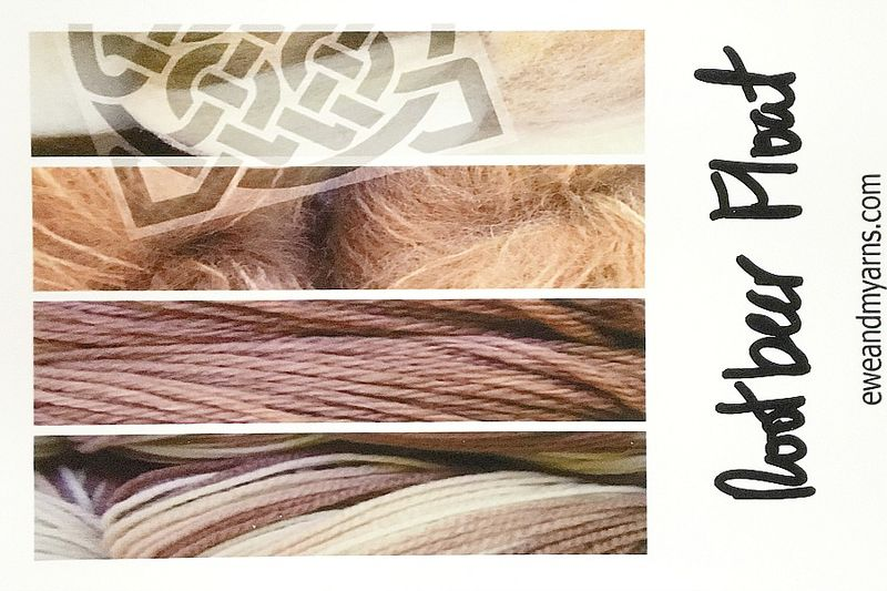 Rootbeer Float Hand Dyed Yarn Sample Card - product images  of