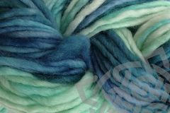 Beach,Glass,Hand,Dyed,Wool,#5,Single,Ply,Bulky,Bulky Yarn Hand Dyed Pencil Roving Mint Green Gray Mallard Green