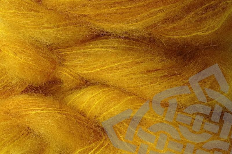 Cab Yellow Mohair Yarn Fingering Weight  - product images  of