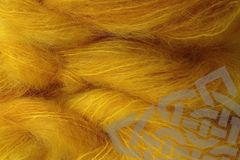 Cab,Yellow,Mohair,Yarn,Fingering,Weight,,Hand Dyed, Mohair Yarn, Fingering Weight, Doll Hair, Waldorf Doll Yarn, Mustard, Cab, Yellow, eweandmeyarns.com