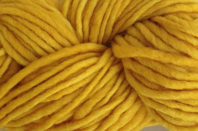 Cab Yellow Hand Dyed Wool Yarn #5 Bulky - product images  of