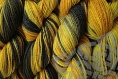 Taxi,Cab,Hand,Dyed,Merino,Wool,Yarn,DK,/,Sport,Wt,Hand Dyed, Merino Wool Yarn, DK / Sport Weight, Cab Yellow, Gray Black, Taxi Cab, eweandmeyarns.com