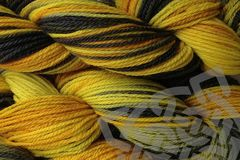 Taxi,Cab,Hand,Dyed,Merino,Wool,Worsted,Weight,Hand Dyed, Merino Wool Yarn, Worsted Weight, Cab Yellow, Gray Black, Variegated Yarn, Taxi Cab, eweandmeyarns