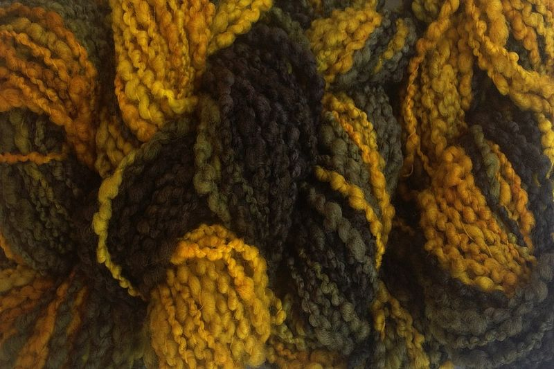 Taxi Cab Hand Dyed Bumpy Merino Yarn Bulky Weight - product images  of